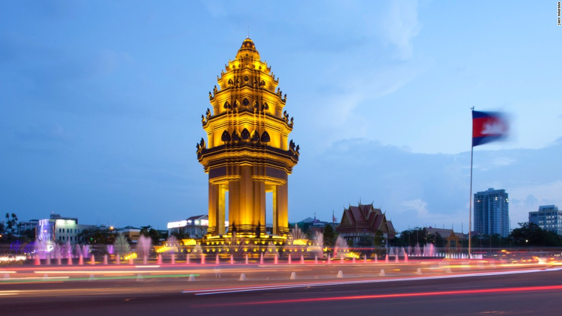 New Khmer Architecture (1956-1972) was pioneered by Cambodian architect Vann Molyvann, who built some 100 structures in the post-independence, pre-war period in the country. He was behind Phnom Penh's Independence Monument, unveiled in 1958. Photo by Sam Naiman (www.chromafilms.net)
