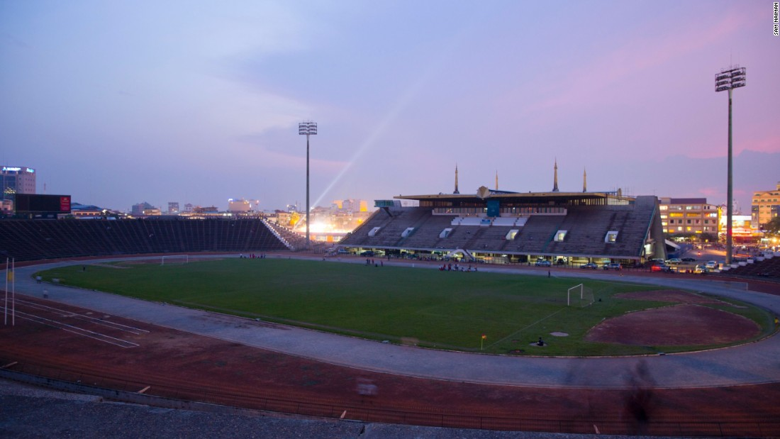 Other New Khmer buildings that survived the war include the Olympic National Stadium in Phnom Penh. Despite Cambodia never having hosted the Olympic games, the stadium was dubbed as such and the name stuck.