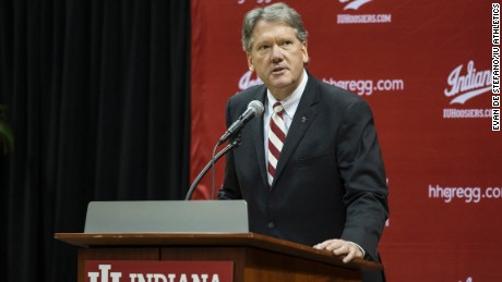 Indiana University Athletic Director Fred Glass at a press conference on the IU campus in March. Indiana University has new policy that any prospective student-athlete who has been convicted of, pled guilty or no contest to a felony involving sexual violence is ineligible for competition or practice at Indiana University.