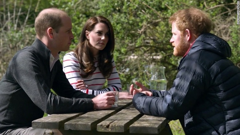 Prince William, Princess Kate and Prince Harry share candid conversation