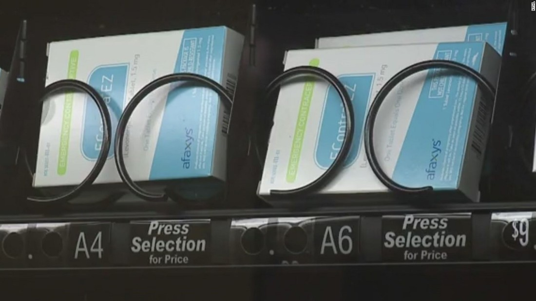 A University of California, Davis vending machine dispenses condoms, tampons and the emergency contraception known as Plan B, among other items.