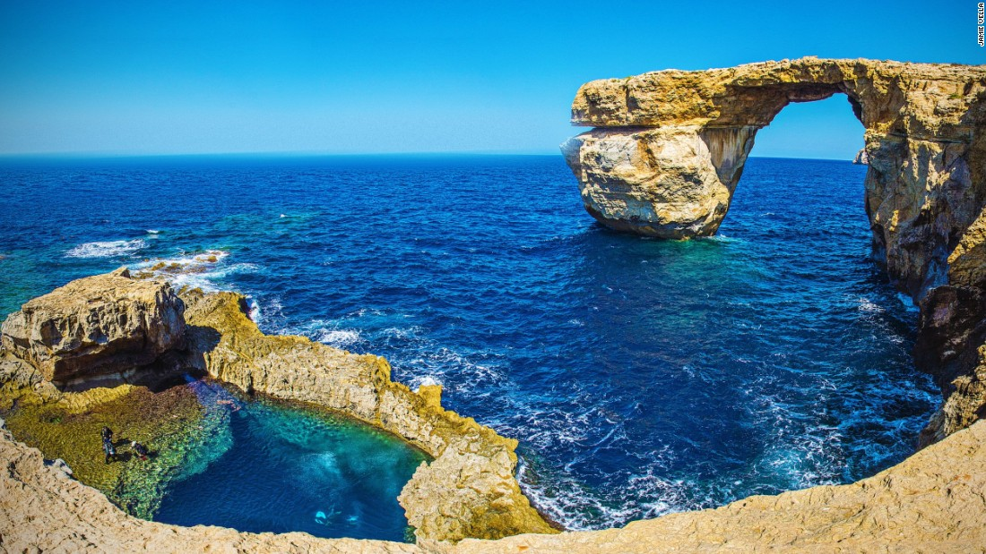 <strong>Brochure star: </strong>The 50-meter tall arch, known as Tieqa tad-Dwejra in Maltese, graced glossy brochures since tourism began in Malta.