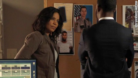 "Sanaa Lathan and Stephan James in the Fox Television Studios show, ""Shots Fired."""