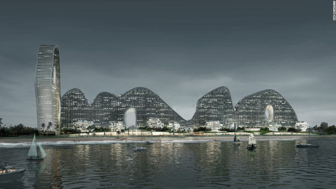 Located in the oceanfront of Southern China, this vast residential complex combines high rise structure and undulating typology, aiming for a high-density solution.