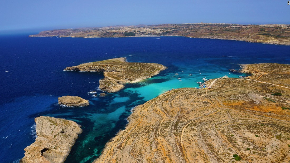 <strong>Blue Lagoon: </strong>Car-free Comino island between Malta and Gozo boasts the spectacular  sheltered inlet known as the Blue Lagoon.