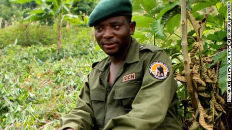 Katebmo during an anti-poaching operation in Virunga National Park (Photo by Emmanuel Kataya, courtesy of Rodrigue Katembo)
