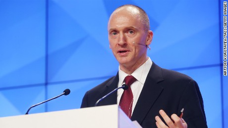 Carter Page, Global Energy Capital LLC Managing Partner and a former foreign policy adviser to Donald Trump, makes a presentation titled ' Departing from Hypocrisy: Potential Strategies in the Era of Global Economic Stagnation, Security Threats and Fake News' during his visit to Moscow.