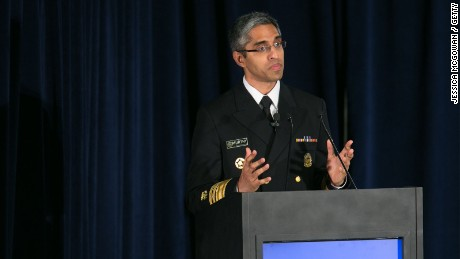 Surgeon General of the United States Dr. Vivek Murthy speaks on the epidemic of prescription drug addition before the arrival of President Barack Obama at the National Rx Drug Abuse and Heroin Summit on March 29, 2016 in Atlanta, Georgia.
