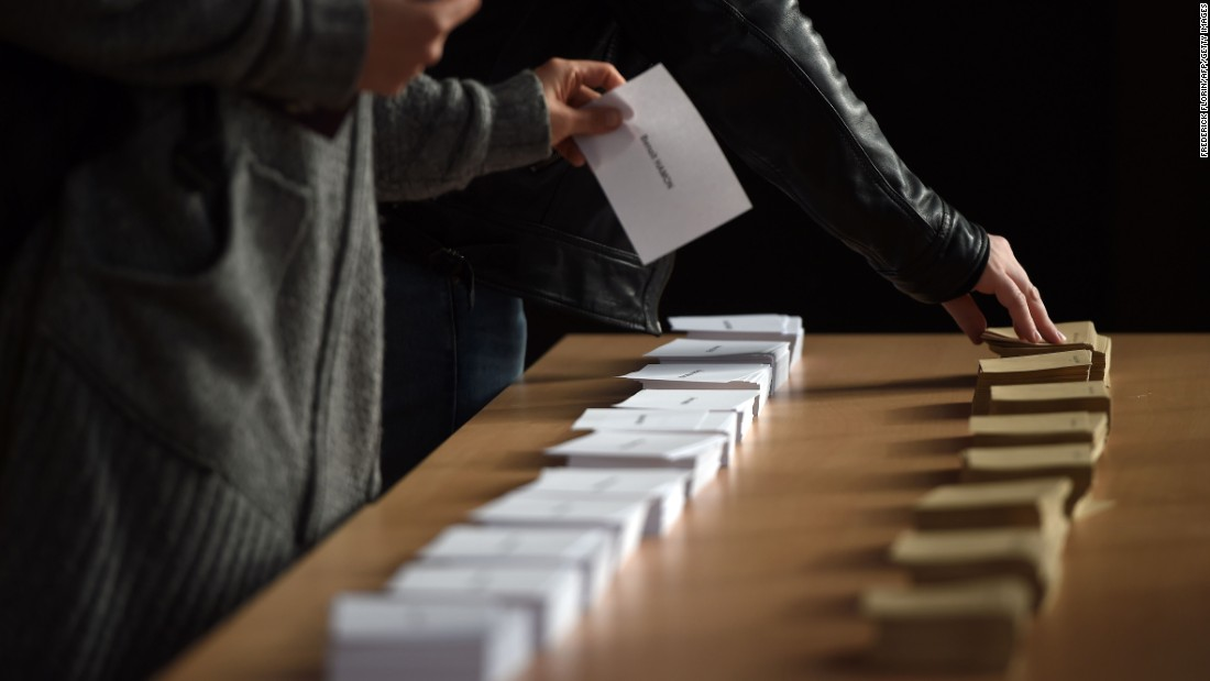 Voters cast their ballots in Strasbourg.