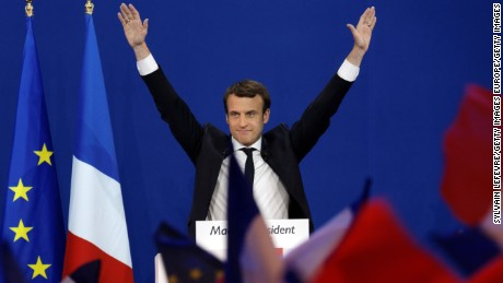 If successful, Macron would become the youngest ever president of France.