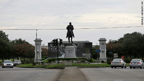 The statue of P.G.T. Beauregard in New Orleans.