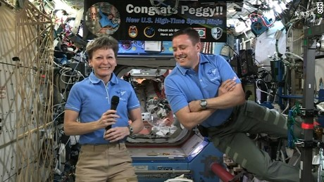 ISS astronauts welcome supply space craft