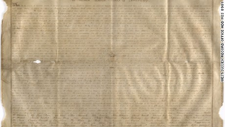 The Sussex Declaration is currently housed at the West Sussex Record Office in the UK.
