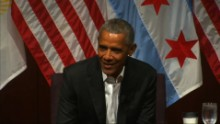 Obama jokes about being MIA