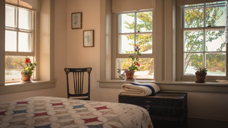 Saugerties Lighthouse has just two bedrooms.