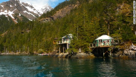 Orca Island Cabins are on a private island.