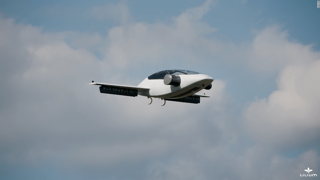 A prototype has undergone testing in Germany and proved its ability to transform from hover mode to forward flight mode in mid air by tilting its 26 electric jet engines.