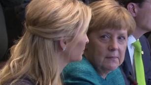 Germany's Merkel turns to Ivanka