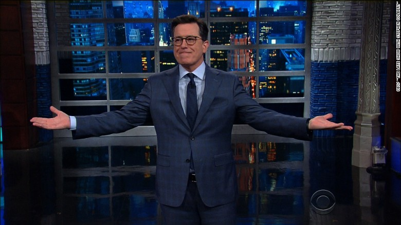 Colbert talks about Trump's first 100 days in office