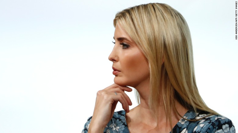 First Daughter and Advisor to the US President Ivanka Trump attends the start of a panel discussion at the W20 women's empowerment summit sponsored by the Group of 20 major economic powers on April 25, 2017 in Berlin.  On her first official trip as presidential adviser, Ivanka Trump appeared on a panel with high-powered guests, also including IMF chief Christine Lagarde and Queen Maxima of the Netherlands, on Women's Economic Empowerment and Entrepreneurship. / AFP PHOTO / Odd ANDERSEN        (Photo credit should read ODD ANDERSEN/AFP/Getty Images)