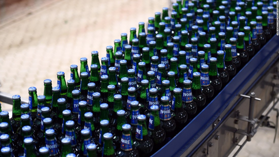 The brewery will produce Heineken's new 'Ivoire' beer, the result of extensive research into local tastes. A 60-centileter bottle costs $0.81.