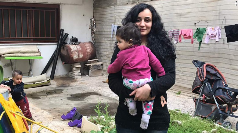 Islam Mitat, from Morocco, has found refuge with her children in a YPG safehouse northeastern Syria.