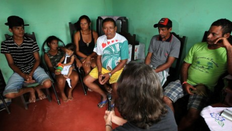 Family rescued from slavery in the Amazon