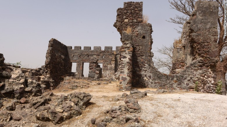 Many of the island's monuments have been damaged.