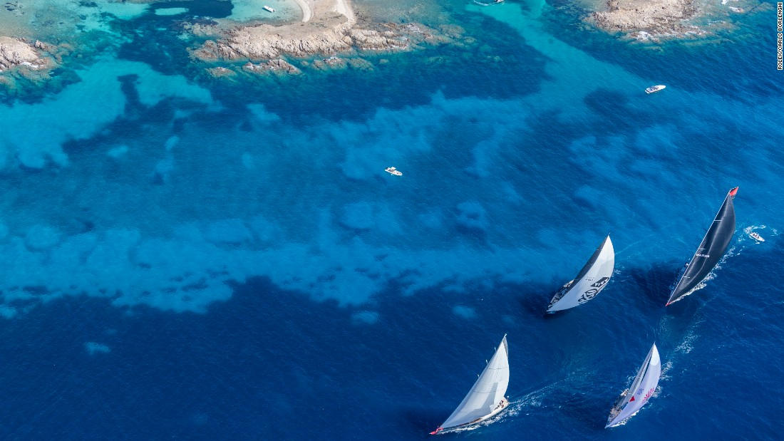 "Sardinia sailing features blue water passages with famous stretches such as ""Bomb Alley"" between La Maddalena and Caprera islands."
