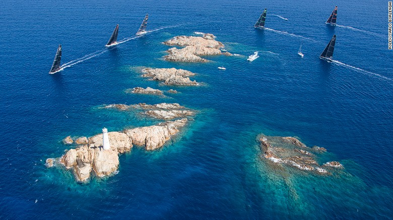 Sardinia's Costa Smeralda offers stunning sailing among rocky islands.