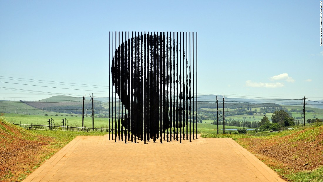 <strong>Mandela Capture Site, KwaZulu-Natal: </strong>Mandela Capture Site is a sculpture with steel columns up to 9.5 meters tall, marking the site where the former president was taken into custody. The surrounding landscape is stunning, too.<strong> </strong>(DARREN GLANVILLE/Flickr/CC by SA 2.0)