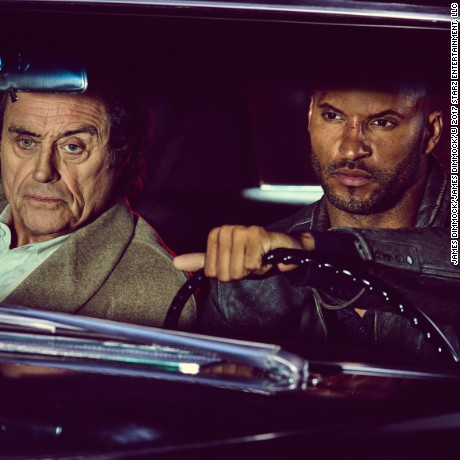 Ian McShane, Ricky Whittle in 'American Gods'