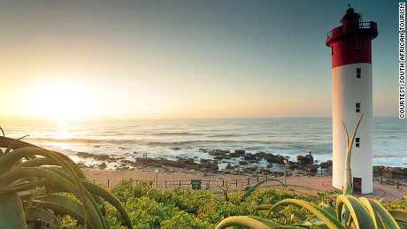 Beautiful south africa Sunset view from Umhlanga beachfront