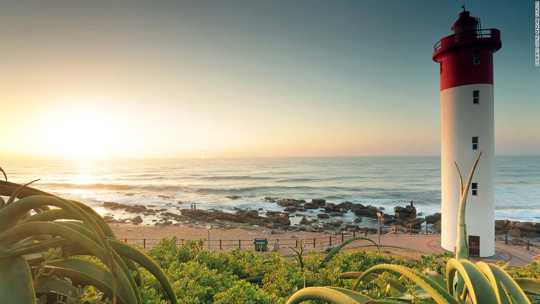 <strong>Umhlanga, KwaZulu-Natal: </strong>A resort town north of Durban, Umhlanga boasts a three-kilometer-long promenade with gardens, swimming and surf beaches and the famous Umlanga Lighthouse.