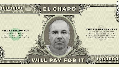 This image ran with Sen. Ted Cruz's tweet about the EL CHAPO Act.