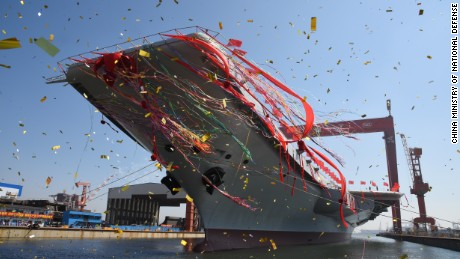China's second aircraft carrier was launched at a ceremony on April 26.
