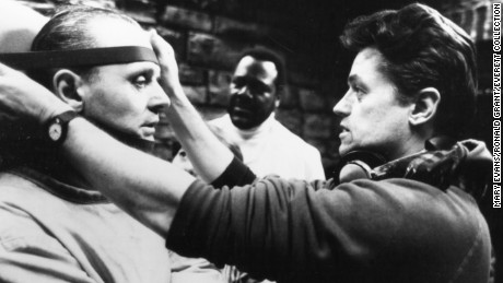 Anthony Hopkins, left, with director Jonathan Demme.