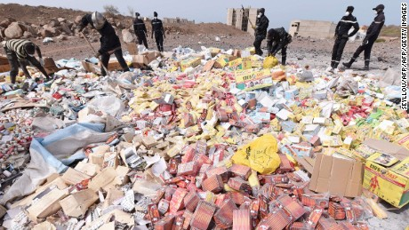 Nearly four tonnes of fake medicine were destroyed by authorities in Dakar in 2015. Informal street vendors add to the problem. Apps such as Kane's give an incentive to buy from pharmacies.