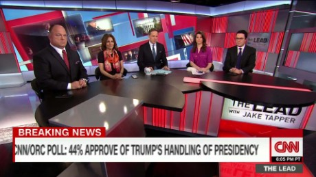 political panel discuss trump's record low approval the lead _00011330