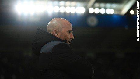 Sevilla's Argentinian coach Jorge Sampaoli arrives for the UEFA Champions Champions League round of 16 second leg football match between Leicester City and Sevilla at King Power Stadium on March 14, 2017. / AFP PHOTO / Oli SCARFF        (Photo credit should read OLI SCARFF/AFP/Getty Images)