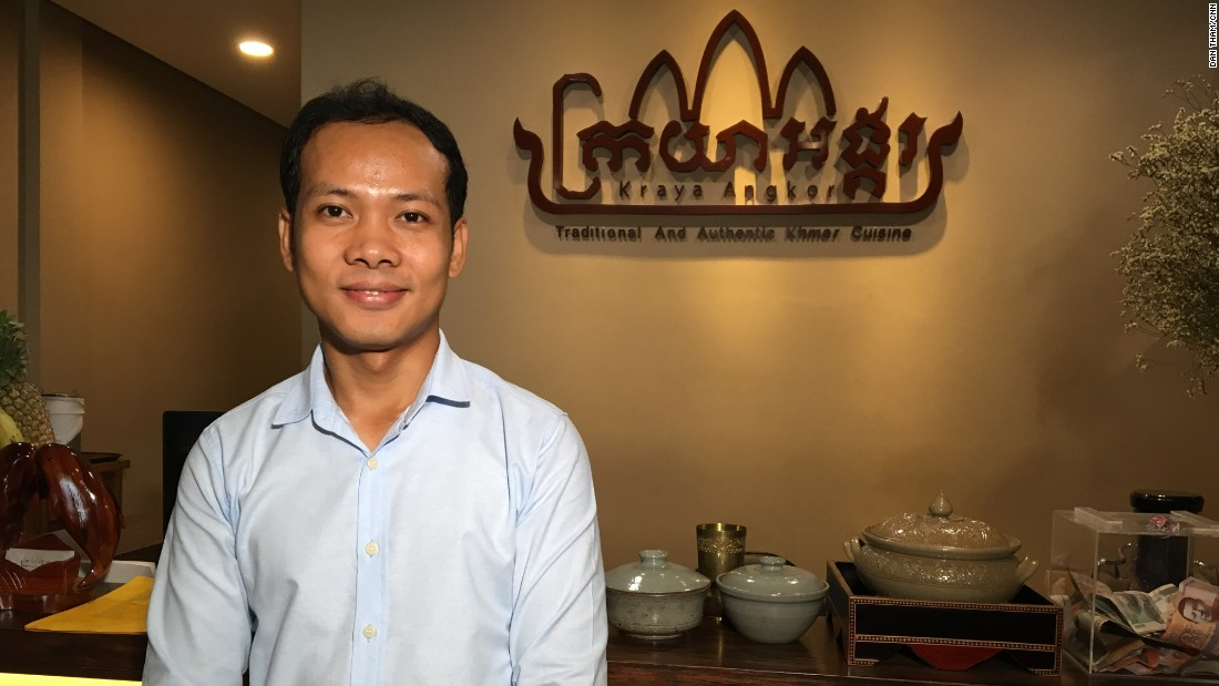 Ly San, a 29-year-old Cambodian lawyer who was born in Siem Reap, started researching Khmer cuisine while studying in France. He traveled the country learning about lost recipes from elderly Cambodians.