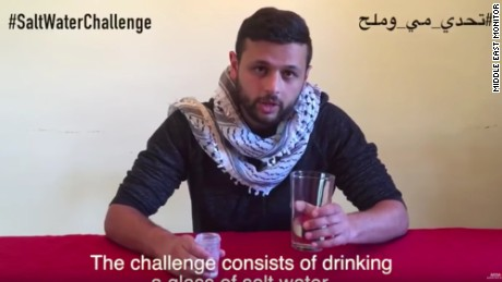 The Salt Water Challenge appears to have been started by Aarab Marwan Barghouti, the son of a prominent Palestinian prisoner.