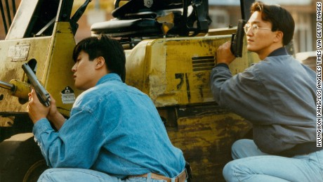 Korean storeowners defend their property during the 1992 LA Riots.