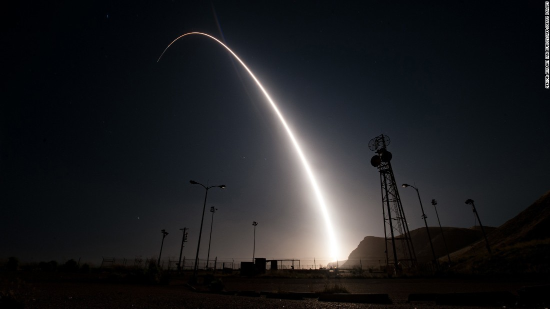 "A handout photo from the US Air Force shows <a href=""http://www.cnn.com/2017/04/26/politics/us-air-force-test-launches-unarmed-icbm-missile/"" target=""_blank"">the test-firing of an unarmed long-range missile</a> on Wednesday, April 26. The Minuteman III was launched from California's Vandenberg Air Force Base and traveled roughly 4,200 miles to a test range near the Marshall Islands. An Air Force statement called the test ""an important demonstration of our nation's nuclear deterrent capability."" <a href=""http://www.cnn.com/2017/04/20/world/gallery/week-in-photos-0421/index.html"" target=""_blank"">See last week in 27 photos</a>"