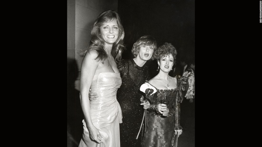 Models Cheryl Tiegs and Lauren Hutton, and actress Bernadette Peters