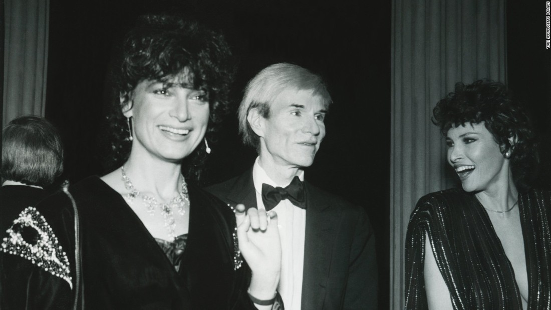 Andy Warhol, Raquel Welch and journalist Daniela Morera