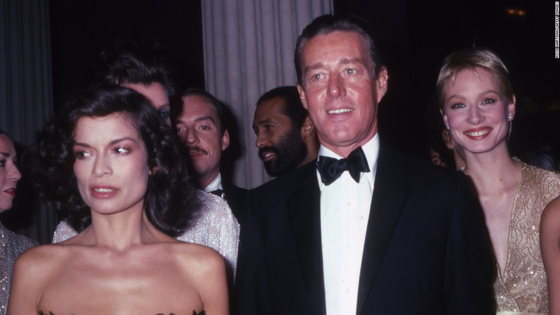 Bianca Jagger and Halston