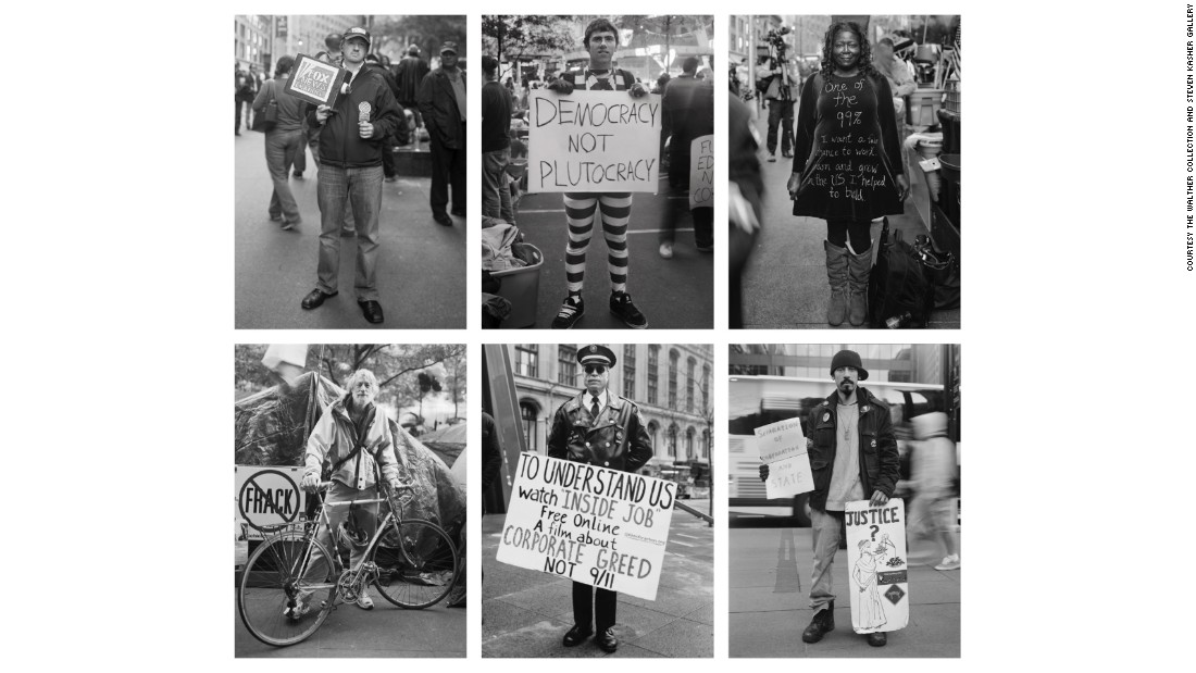 "In ""Occupying Wall Street,"" New York-based photographer Accra Shepp set out to take as many portraits of protesters at Zucotti Park as possible during the final months of 2011. Juxtaposed against ""The Family,"" Shepp's series embodies the political response to the power structure revealed in Avedon's photographs."