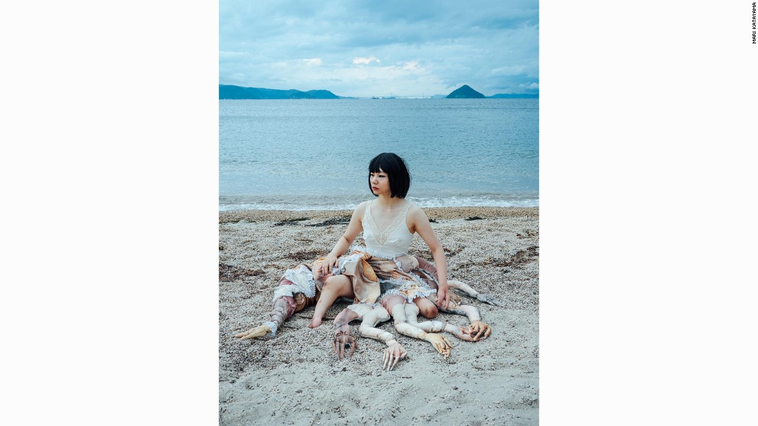 "Shots of Katayama on the beach in Naoshima were inspired by Botticelli's ""Birth of Venus."""