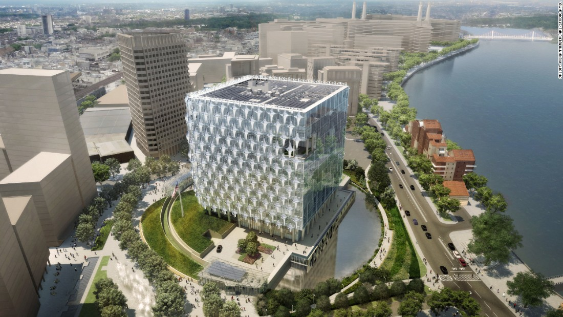 London's new, $1-billion American embassy was designed by Philadelphia architects KieranTimberlake, and is expected to open later this year. Its façades are composed of blast-resistant glass with a polymer skin.
